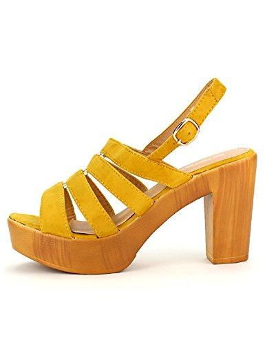 Cendriyon Sandale Jaune GIRLWOOD Chaussures Femme Jaune
