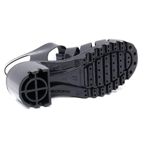 B2894 sandalo donna COLORS OF CALIFORNIA scarpa nera gomma shoe woman Nero