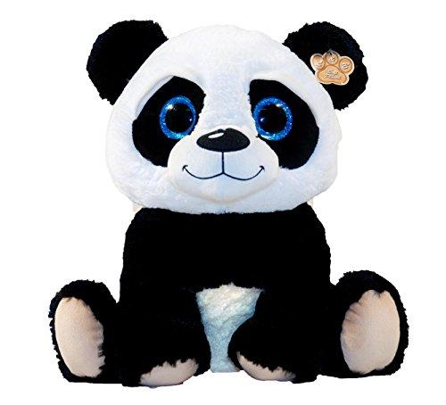 LB Peluche panda avec grands yeux Peluche assise 30cm