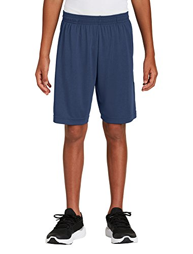 Dri-Wick Youth Sport Performance Sport-Shorts mit Taschen - Blau - XL -