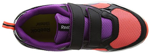 Reebok Bd4041, Scarpe da Trail Running Bambina Multicolore (Black/orange Vitamin C/aubergine)