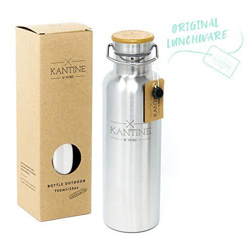Kantine 51° Nord ® Isolierflasche Outdoor 750ml | Doppelwandige Edelstahl Trinkflasche 0,75l mit Vakuumisolierung