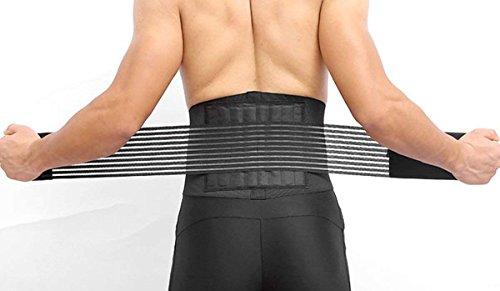 Rückenbandage Lumbalgürtel NOVECASA Rückenstütze Strap Rückengurt mit Stabilisatoren und Spanngurt für Effektive Schmerzlinderung und Haltungskorrektur Verstellbare Rückenunterstützung für Frauen und Männer Taillenumfang L(75cm-110cm)