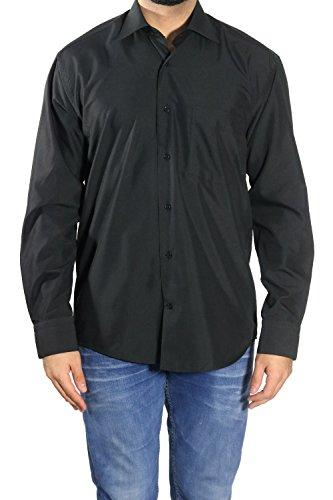 MUGA MMUGA Herren Hemden leicht tailliert Schwarz