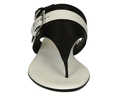 Spartiates Hogan femme en cuir noir - Code modèle: HXW1330R4407Y80002 Noir