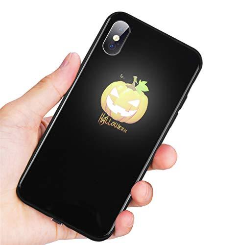 go Glowing für iPhone 78Plus Schutzhülle Bumper Cover aus gehärtetem Glas, ph-X, kürbis ()