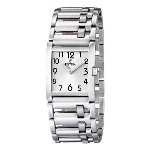 Festina Damen-Armbanduhr Analog Quarz Edelstahl F16550/1