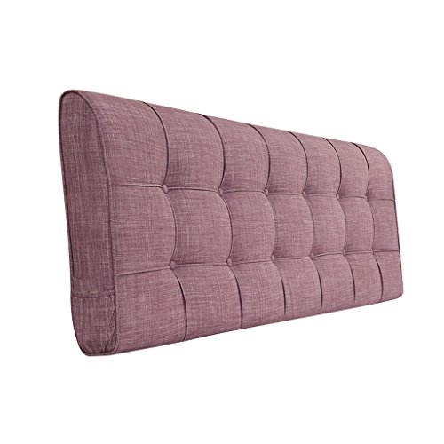 Dossier De Chevet Design ergonomique Coussin de chevet Tissu Linge de lit Sac sans poche Grand dossier Ensemble de coussin Housse de lit Big Pillow Pure Color 58 * 155cm (Couleur : A)
