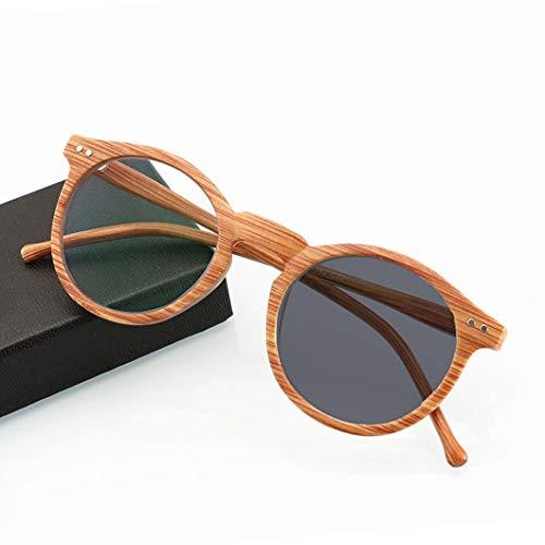 SYTH Männer und Frauen Lesebrille, Vintage Holzmaserung Brille zum Lesen, Harz Objektiv Sonnenbrille