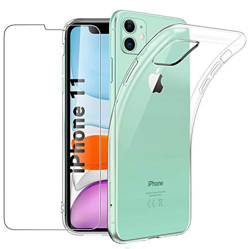 Coque iPhone 11 Etui pour iPhone 11 Mate TPU Dur Bouton de Couleur indépendant Mince Cover iPhone 11 Housse de iPhone 11 61