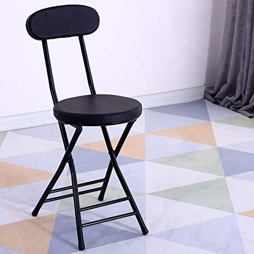 XUMINGZDY Mode klappstuhl hocker Hause rückenlehne Computer esszimmer Stuhl büro hocker hoher hocker tragbare einfache klare bar kleine Bank (Farbe : A) -