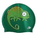Diapolo Professionale Schwimmkappe Chameleon Silikon Badekappe Bademütze Schwimmmütze für Damen und Herren und Mädchen und Jungen