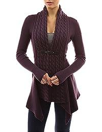Chaquetas de Punto Mujer Tallas Grandes Suelta Jerseys Suéter Largo  Asimetrico Cardigan Manga Larga del Dobladillo a8328ea2fea1