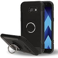 Samsung Galaxy A5 2017 Funda con Anillo de NICA, Carcasa para Soporte Movil Coche Magnetico con Kickstand, Ring-Case Cover Cubierta Protectora Bumper para Telefono Movil Samsung A5-17, Color:Negro
