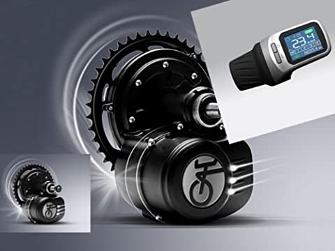 48V 500W SFM Mittelmotor LCD Display XH 18 ohne Rücktritt Umbaukit e-Bike Pedelec E-Fahrrad