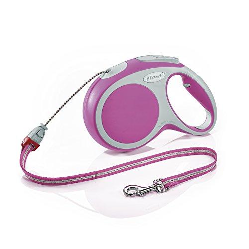 flexi Roll-Leine Vario M Seil 8 m pink für Hunde bis max. 20 kg