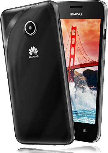 moex Huawei Ascend Y300   Hülle Silikon Transparent Klar Clear Back-Cover TPU Schutzhülle Dünn Handyhülle für Huawei Y300 Case Ultra-Slim Silikonhülle Rückseite