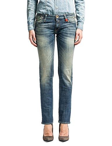 Replay Damen Slim Fit Jeans Rockxanne WX521 Blau (Blue Denim 9)