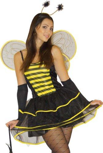 (MAYLYNN 12204-S - Bienenkostüm mit Tasche, 5-teilig, Größe S)