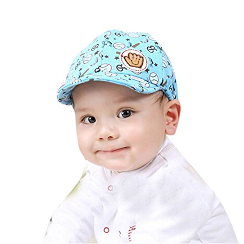 Oyedens Newborn Baby Boy Girl Hat Peaked Baseball Cap Cute (Blue )