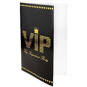 Vip einladungskarten im 10er pack innen blanko 11x17cm for Amazon einladungskarten