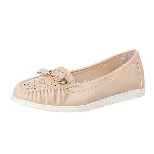 Damen Schuhe, ZH68-2, MOKASSINS Beige