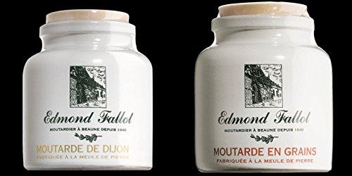 Fallot Dijon-Senf im Steintopf - fein + grob - Kombipack 2x 250 g