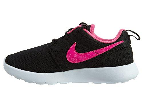 Nike Roshe One (PS), Chaussures de Sport Fille, Blanc, 27.5 EU Noir (Noir / Rose-Blanc Explosion)