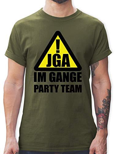 Grüne Kostüm Army Boy - JGA Junggesellenabschied - JGA im Gange - Party Team - S - Army Grün - L190 - Herren T-Shirt und Männer Tshirt