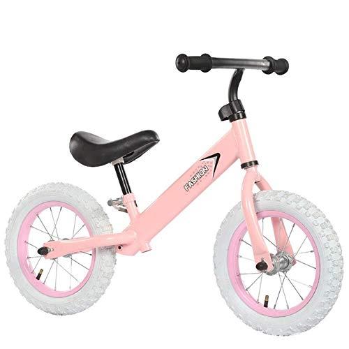 Kinder Balance Bike, Geburtstagsgeschenk für Kinder 2-6 Jahre alt, Verstellbarer Lenker, Learner Bike Kein Fußpedal Fahrrad Kinder 12