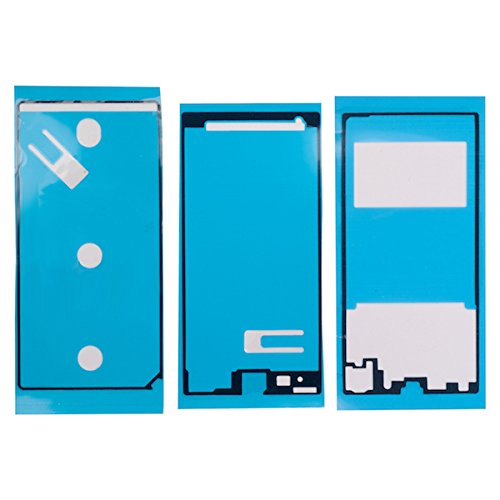 Lcd-cover-set (BisLinks®® Für Sony Xperia Z1 C6903 LCD Bonding Batterie Cover Middle Rahmen Klebstoff Set)