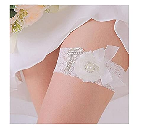 KekeHouse® Bridal Lace Rhinestone Garters Wedding Accessories for Women(Style 10)