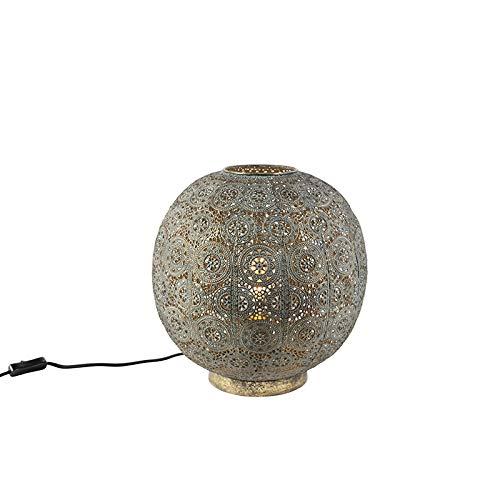 QAZQA Klassisch/Antik/Orientalisch Orientalische Tischlampe 32 cm - Baloo/Innenbeleuchtung/Wohnzimmerlampe/Schlafzimmer Stahl Kugel/Kugelförmig LED geeignet E27 Max. 1 x 40 Watt