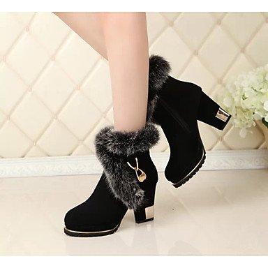 RTRY Scarpe Donna Tessuto Autunno Inverno Comfort Stivali Chunky Heel Babbucce/Stivaletti Di Abbigliamento Casual Black Nera Us8 / Eu39 / Uk6 / Cn39 US5.5 / EU36 / UK3.5 / CN35