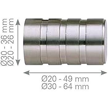 acier inoxydable /Terminal boule luxe Acier Acier inoxydable Diametro 20 mm Barre de rideau/