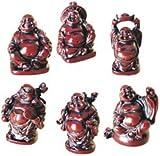 6 Mini Chinesische Glücksmünze umwerfenden set von Buddhas/Gesundheit Reichtum Freude und Glück