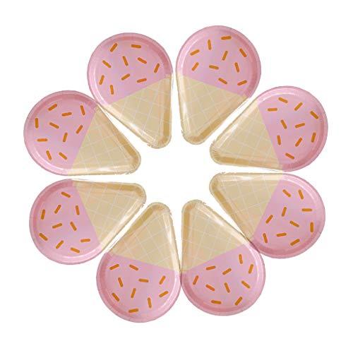 Guociao Einwegteller, 8 Stück, für 8 Eiscreme, Geburtstag, Hochzeit, Picknick, Party, Einwegteller, Papier, Pk#, see pic