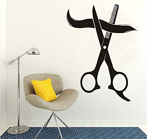 lzdyaya Wandaufkleber Für Barbershop Tapete Wohnkultur Schönheitssalon Big Scissor Friseursalon Vinyl Kunst Aufkleber Frisur