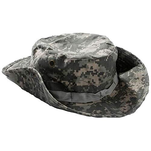 LQ-MAOZI Camouflage Combat Round Hat Geeignet Für Herren/Wild/Berg/Outdoor/UV-Schutz Benni Cap 58-60cm (Farbe : ACU Camouflage) -