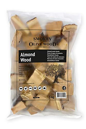 Smokey Olive Wood 5Kg Mandelholz für BBQ und Smoker, grobe Chunks 5-10cm