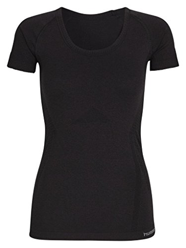 Hummel Damen T-Shirt Eva Seamless SS Tee Black Melange