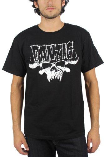 Danzig-La Skull & © gulier + Logo-Maglietta per uomo, colore: nero nero X-Large