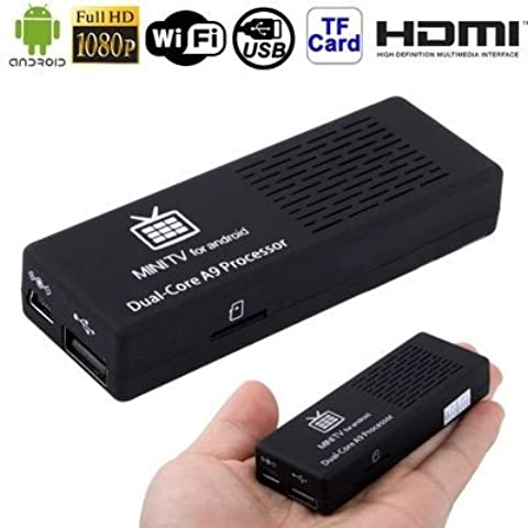 GV20 Full HD 1080P Mini Android 4.1.1 HDMI TV Dongle con WIFI, HDMI + interfaccia USB, Supporto (Ddr2 Sistema)