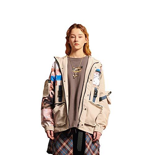 Mäntel Übergangsjacke Windbreaker Kapuze Frauen Mädchen Sweatshirt Outwear Gedruckte Weich Bequem Lose Langarm Mode Hip Hop Straßenkleidung Trend für Freizeit Outdoor - M ()