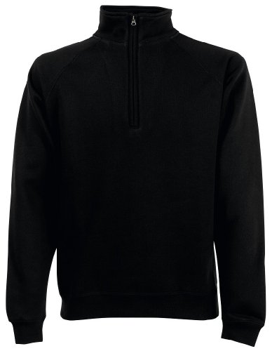 Zip Neck Sweatshirt, Größe:L;Farbe:Black (Zip Sweater)