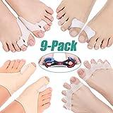 9 Pieces Bunion Correctors and Toe Straightener Set, 5 in 1 Bunion Splint