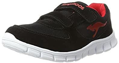 KangaRoos Bluekids 2082, Chaussures Multisport Outdoor mixte enfant, Noir (BLACK/FLAME RED), 28 EU