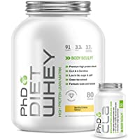 PhD Nutrition Diet Whey 2 kg Vanilla Creme with PhD Nutrition CLA 90 Capsules