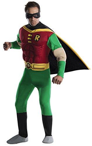 Rubie's 3 888078 - Robin Deluxe Muscle Chest Erwachsener Kostüm, Größe L (Teen Robin Kostüme)