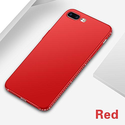 POHONOEO Bling Diamant Telefon Kasten für iPhone 8 Plus Bling Jewelled Normallack Silikon weiche Abdeckungs Zurück Fälle für iPhone 7 8 Plus,Rot,für iPhone 8 - Aus Telefon-kästen Bling